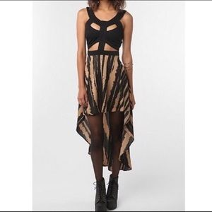 Reverse Hi-Low Cut Out Dress from Urban Outfitters